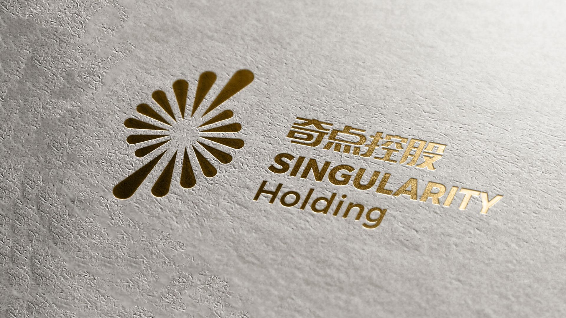 奇点控股logo材质设计
