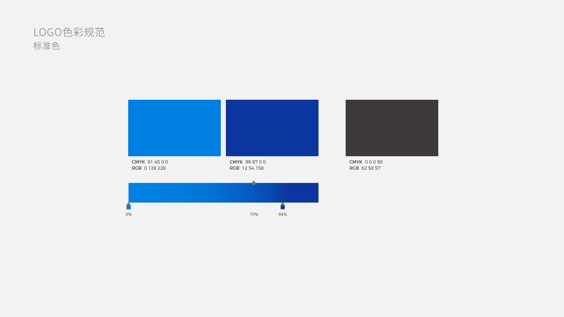 奇点控股logo设计标准色色彩规范
