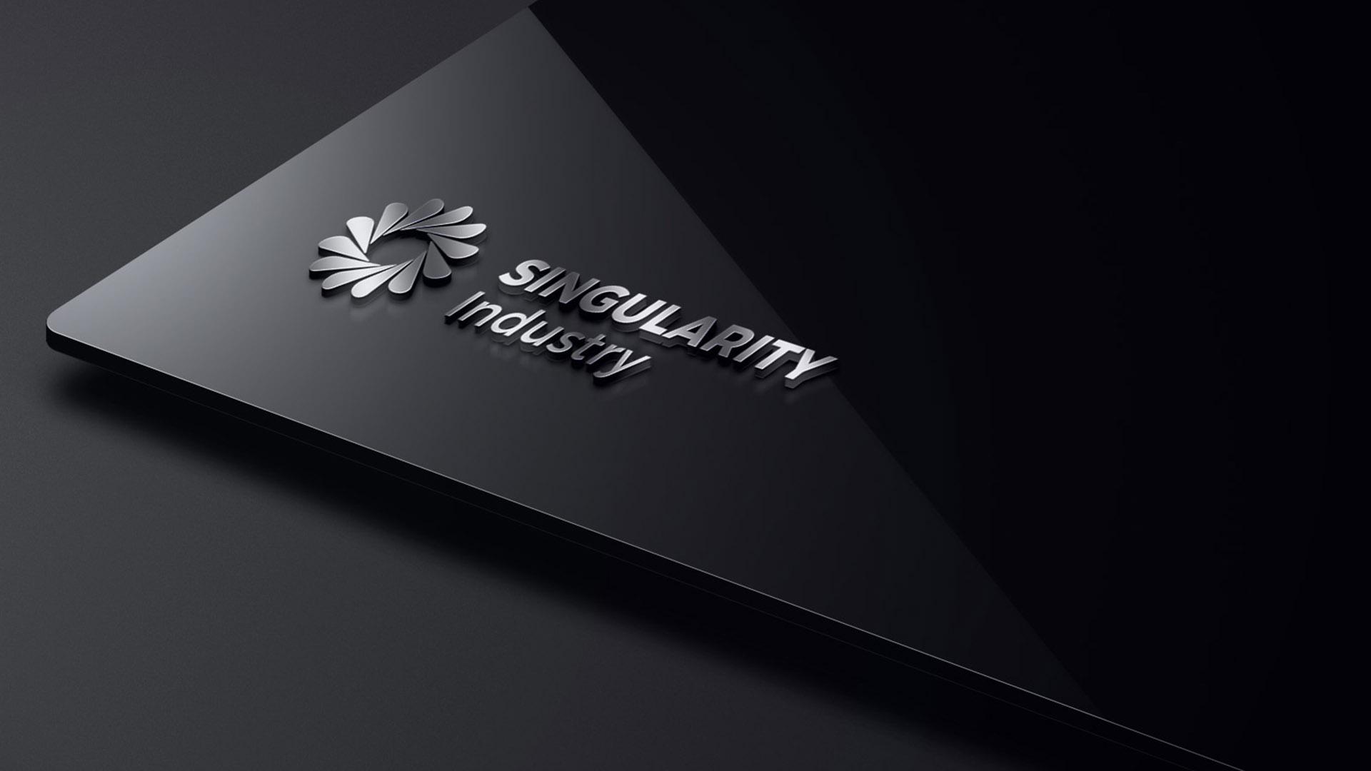 中新产元logo材质设计