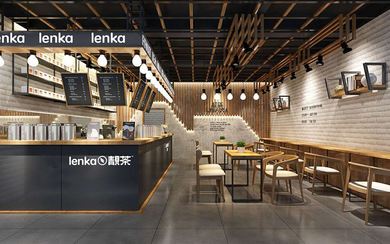 靓茶连锁店空间设计