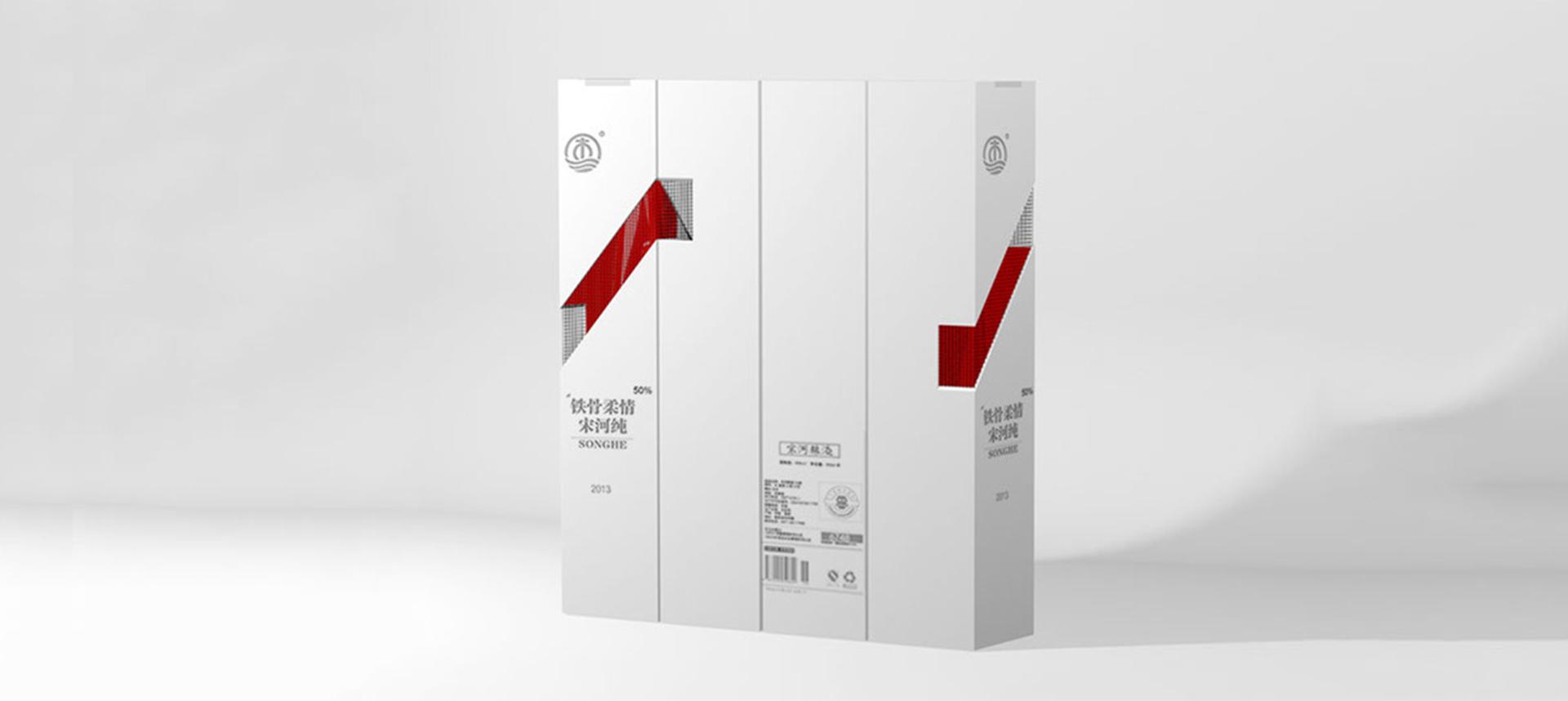 宋河纯白酒包装设计