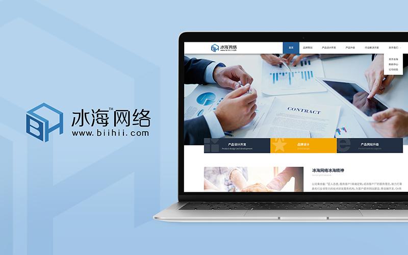 冰海网络网站UI设计
