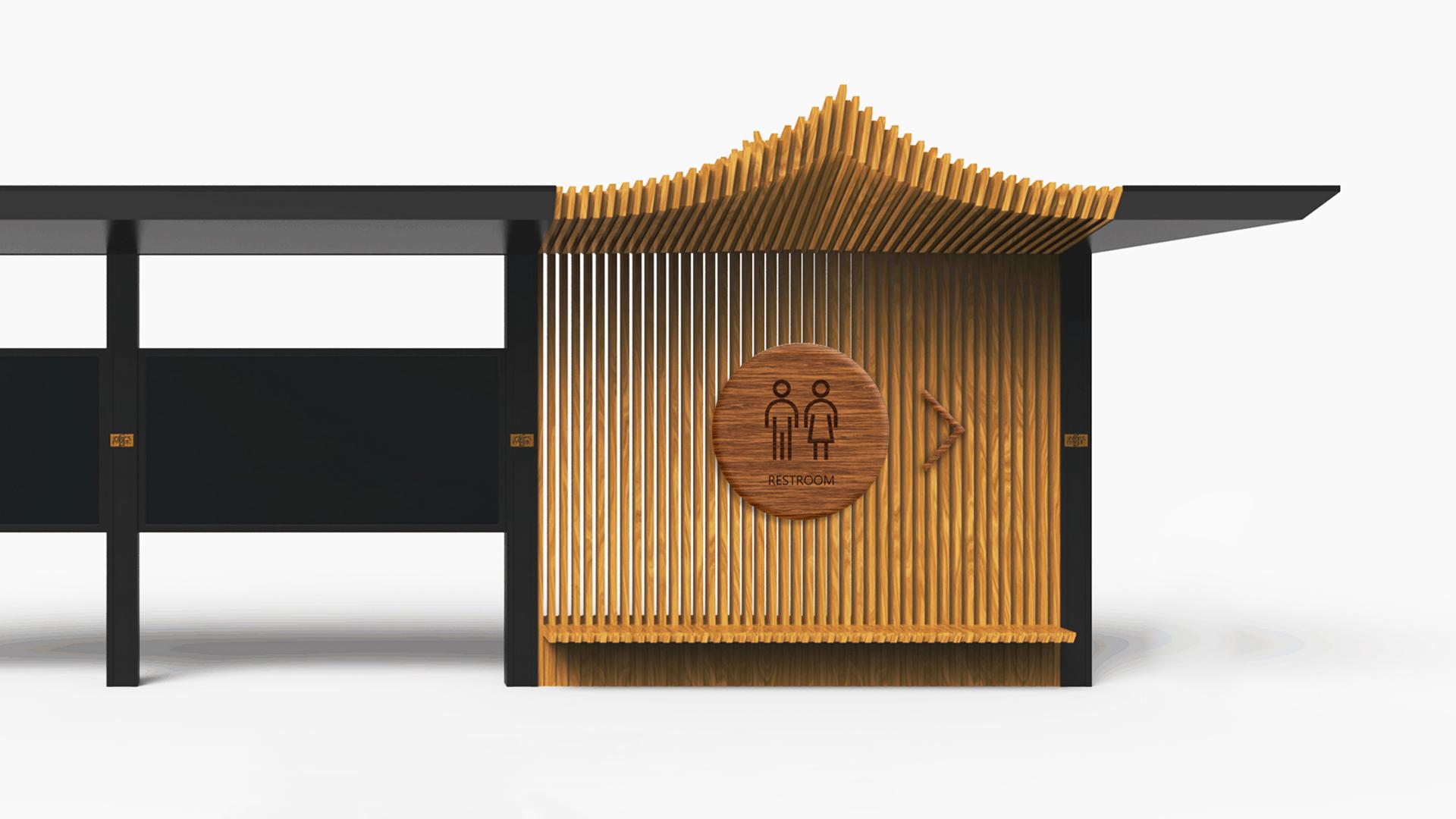 龙景花洲LOGO应用导视设计
