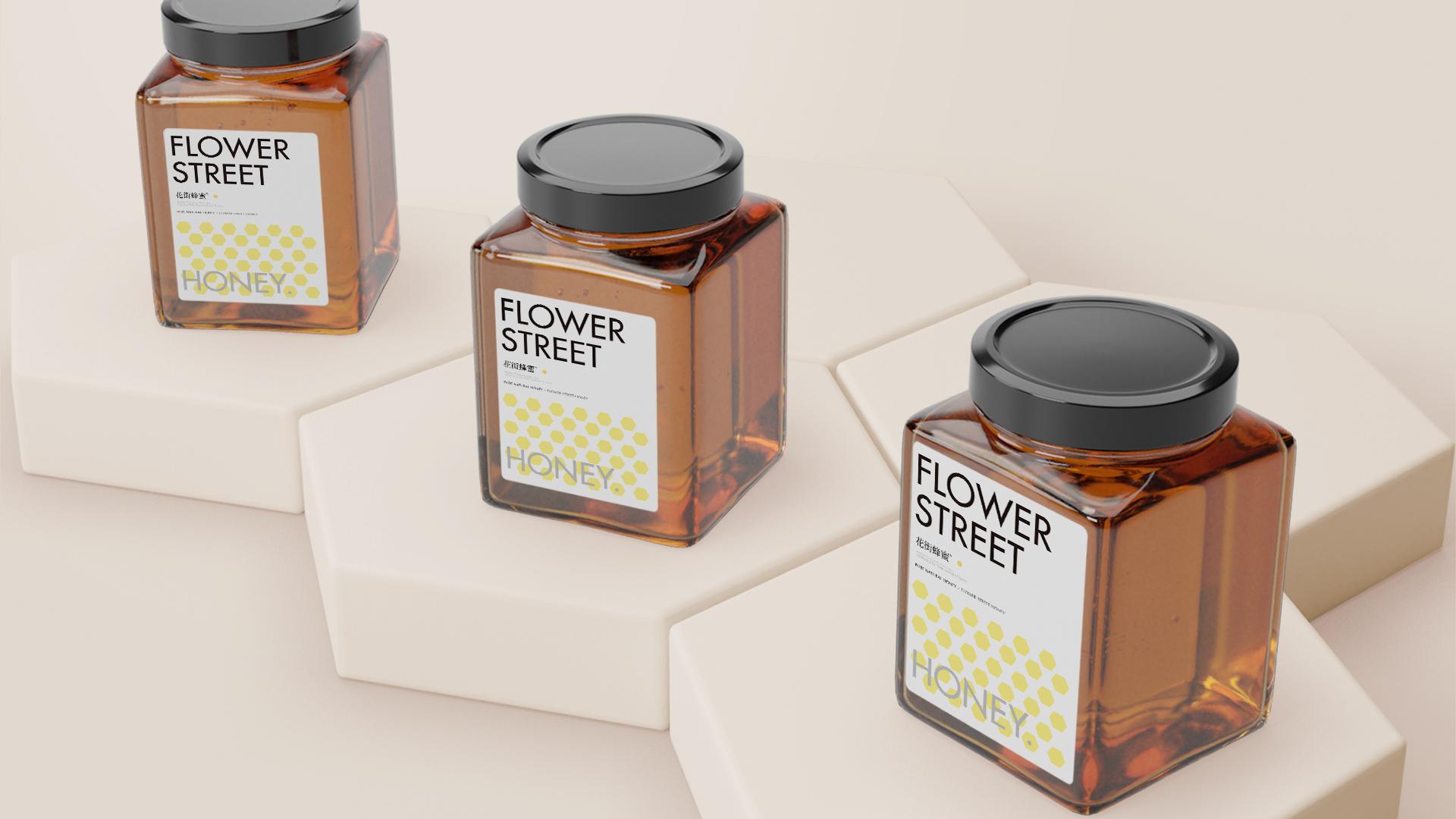 蜂蜜包装字体设计