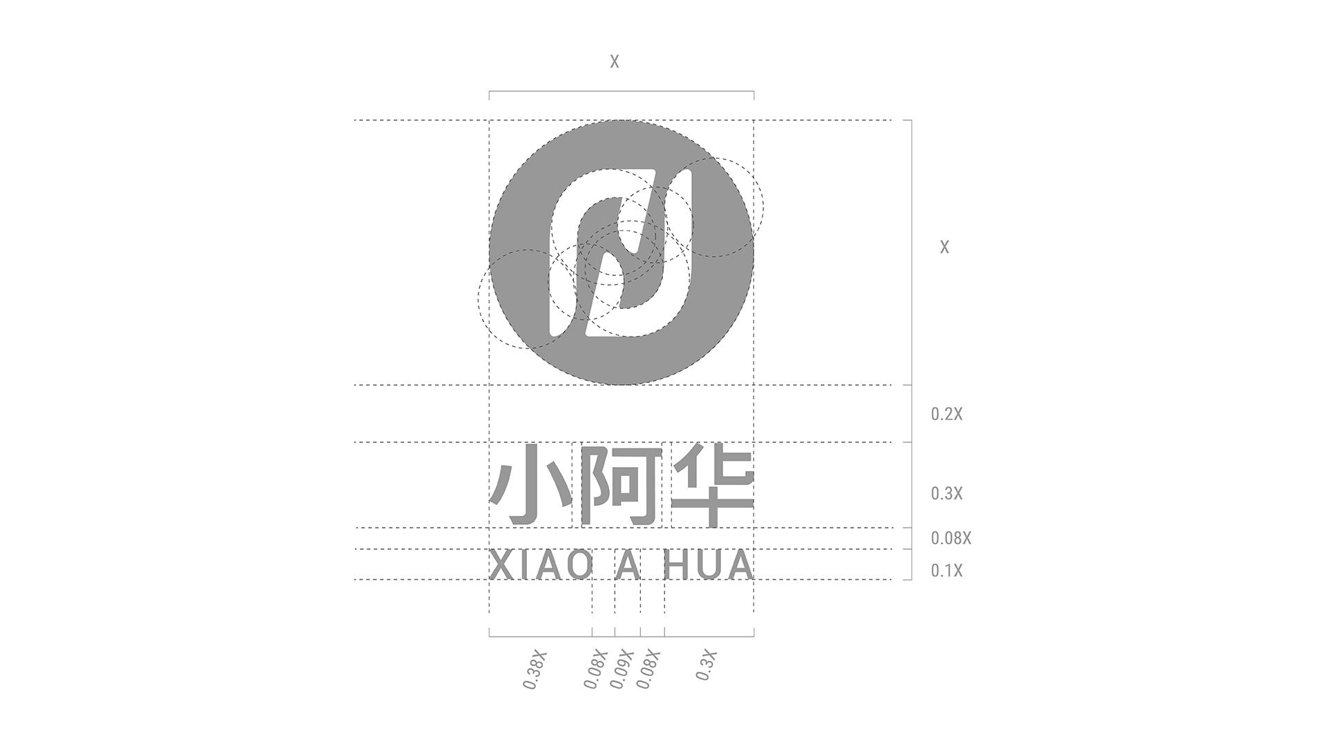 小阿华健康家政品牌logo设计标准制图