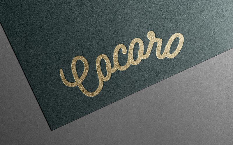 cocoro咖啡厅品牌logo设计