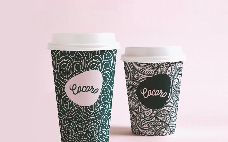 cocoro咖啡厅食品饮品包装设计