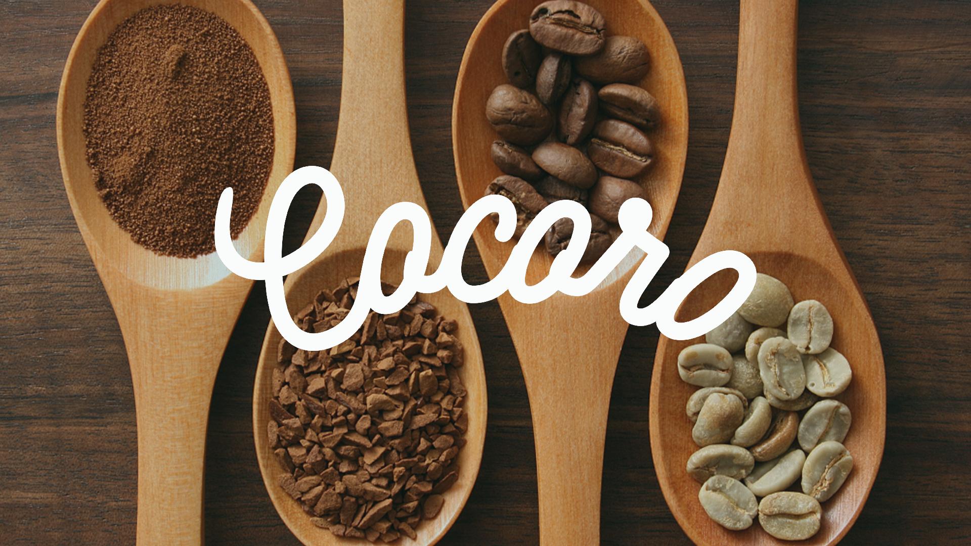 cocoro咖啡厅品牌logo设计-反白底效果