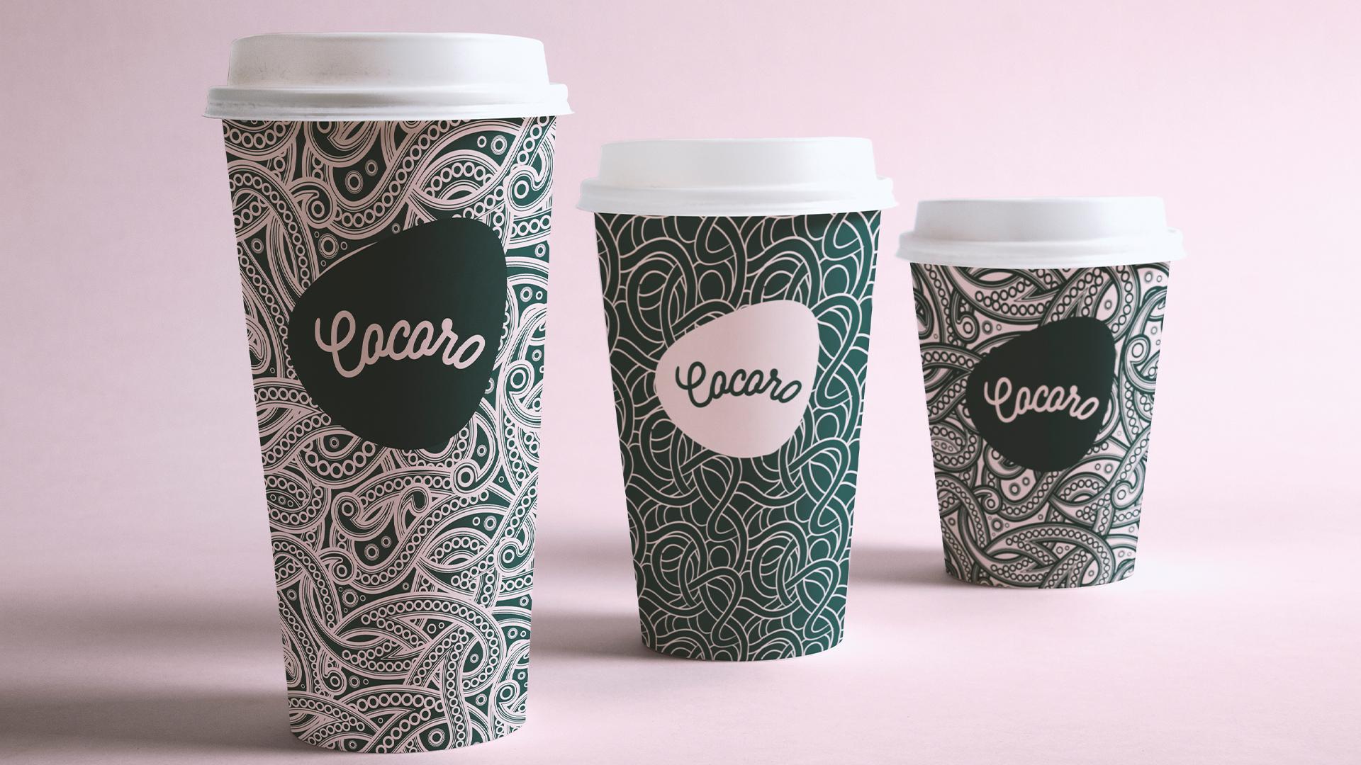 cocoro咖啡厅品牌包装设计-咖啡杯设计