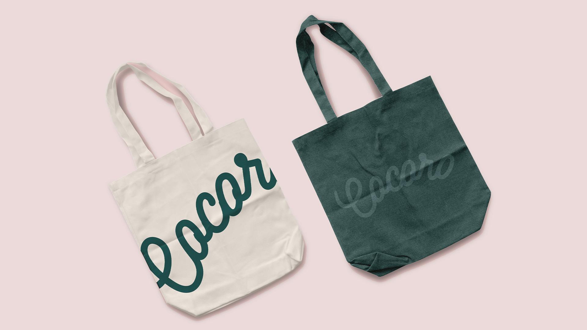 cocoro咖啡厅品牌包装设计-布袋设计