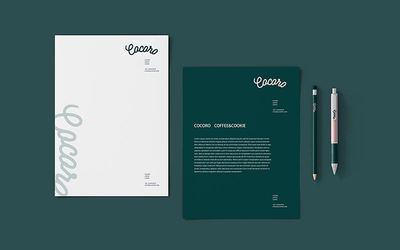 cocoro咖啡厅品牌VI设计