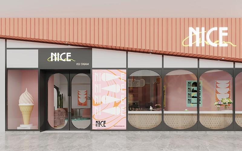 NICECREAM系列冰淇淋店空间设计